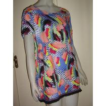 Camisola Camisa Vestido Algodon C/seda Y Gipiur Diseño 2016!
