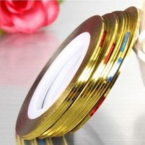 10 Rolos- 5 Fio Fita De Ouro + 5 Fios De Prata Unha Frete 10
