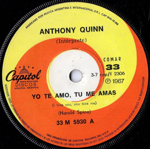 anthony quinn yo te amo tu me amas a veces simple 7 100 00