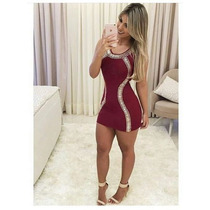 Vestido Curto Brilho Pedrarias Moda Blogueira Instagram