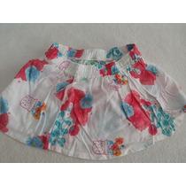 Saia Floral Puc Bebe E Infantil Tamanho 2 E 6 Anos