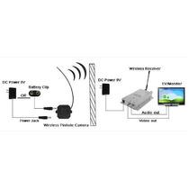 Micro Camera Wirelles 2,4 Ghz Transmissor Sem Fio