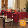 Toalha De Mesa Retangular 10 Lugares Natal Renda Vermelha Le