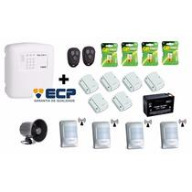 Kit Alarme Ecp Maxcell4 Gsm + Baterias + Sensores S/fio