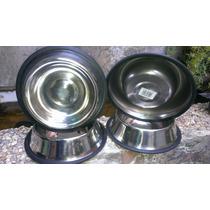 Plato Antiderrapante Alimentador Perro Aluminio. Remate.