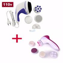Massageador Anti-celulite Orbital + Massageador Facial Poros