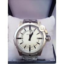 Relógio Masculino Original Atlantis Prateado Aço