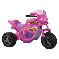 Triciclo Elétrico Infantil Meg Turbo Rosa 1230 - Magic Toys