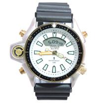 Relógio Masculino Citz Em Aqualand Prata E Branco Jp2004