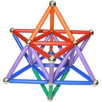 Brinquedo Educativo Magnético Criat-imã 130 Pç Blocos Montar