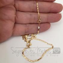 Cordão Corrente Masculina 60cm Ouro 18k 750 Maciço 2.4 Grama