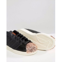 Adidas Ladies Superstar 80s Metal Copper Toe Trainers
