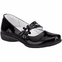 Zapatos Dogi T/piel 672 Negro Charol Niña Pv