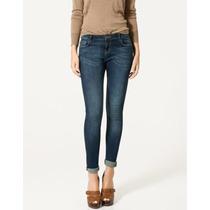 Jeans Skinny Zara Woman Solo Talla 24 / 0 / 3 Original