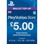Psn Card Uk £ 5 Libras - Reino Unido Mejor Precio