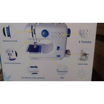 Maquina De Coser Portatil Con 8 Puntadas Electrica Y Manual