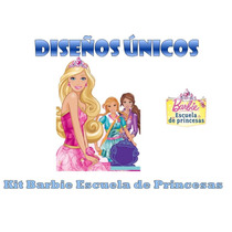 Kit Imprimible Barbie Escuela De Princesas