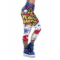 Calça Legging Pop Art - Rock Code - Roupas Femininas