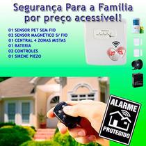 Kit Alarme Segurança Residencial Casa Comercial Sem Fio