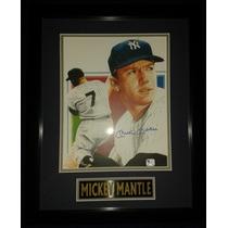 Litografia Firmada Mickey Mantle New York Yankees Mlb Nueva
