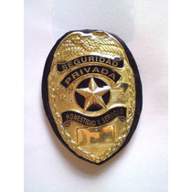 Placa De Seguridad Privada Tipo Policia Judicial Modelo 03