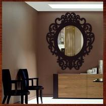 Moldura Para Espelho Em Escultura De Mdf Vazado