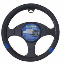 Capa Volante Goodyear Eco Couro 38cm Preto E Azul