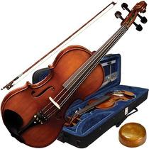 Viola De Arco 4/4 Envelhecido Tampo Abeto + Case Va180 Eagle