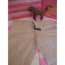 Victorias Secret Pantalon Playa Lino Con Etiquetas Sz 4 / S