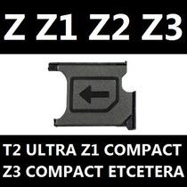 Bandeja Charola Porta Sim Xperia Z1 Z Z2 T2 Ultra Original