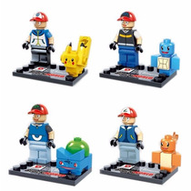 Pokemons Bonecos De Montar = Lego Kit 8 Bonecos Pokémons