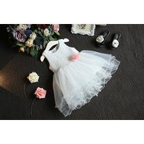 Vestido Infantil Festa Criança Casamento Princesa Rendado