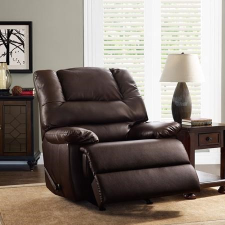 Sillon reclinable piel de lujo cafe better homes oferta for Sillon reclinable
