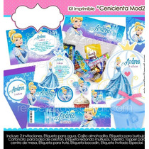 Kit Imprimible Cenicienta Mesa De Dulce Bolo Fiesta Infantil