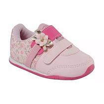 Promoção Tênis Velcro Infantil Pinókio 07.76-650 Rosa/pink