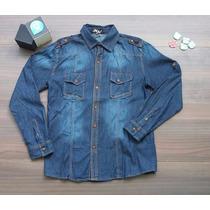 Camisa De Jean Clásica Para Caballeros
