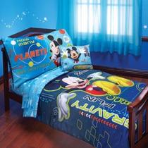 Set Cama Infantil Edredon 2 Sabanas Y Funda Mickey Mouse