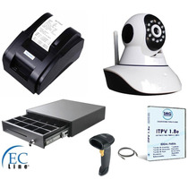 Kit Camara Ip + Cajon + Miniprinter + Lector + Software Pdv