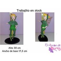 Adorno De Torta Tinkerbell Campanita Porcelana Fria-en Stock
