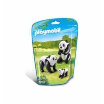 Retromex Playmobil 6652 Familia De Pandas Zoologico Ciudad