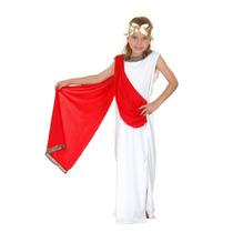 Traje Romano - Medio 7-9 Yr Niñas Niño Griega Toga Fantasía