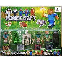 Bonecos Minecraft Kit Com 19 Peças