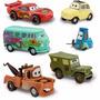 Cars Pack 6 Autos Rayo Mcqueen, Mate, Luigui
