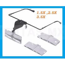 Lupa Tipo Lente Armazón Luz Led 3 Aumentos Optovisor
