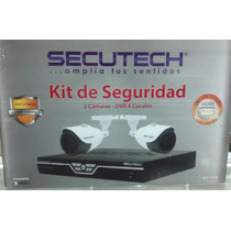 Kit De Seguridad Secutech 4 Canales 2 Camaras 650tvl