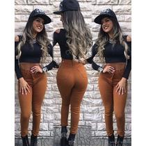 Roupas Femininas Calças Jeans Feminina Rasgada No Joelho