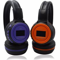 Headphone Sem Fio Com Visor Aux Sd Hc Usb Rádio Fm Bateria