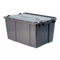 Caja De Plastico De Bisagras 60-32 C/tapa Medidas60x40x32h