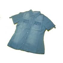 Camisas De Jeans Dama Manga Corta Super Oferta