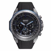 Relógio Orient Caixa Grande Titânio E Puls Borracha Mbtpc004
